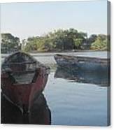 Placid Fishing Boats Canvas Print