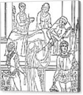 Plague, 1500 Canvas Print