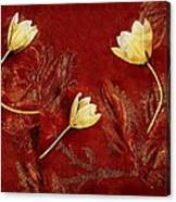Plain Flowers Pop Art Canvas Print