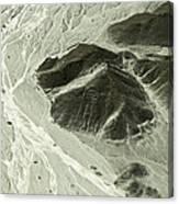 Plains Of Nazca - The Astronaut Canvas Print