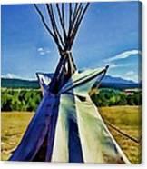 Plains Tribes Teepee Canvas Print