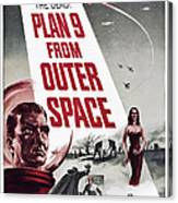 Plan 9 From Outer Space, Vampira, 1959 Canvas Print
