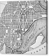 Plan Of The City Of Washington As Originally Laid Out In 1793 Canvas Print