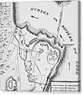 Plan Of West Point Canvas Print