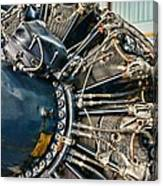 Plane Engine Close Up Canvas Print