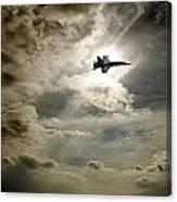 Plane In Flight Canvas Print