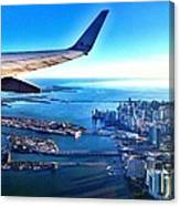 Plane Over Miami Canvas Print