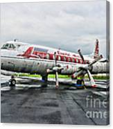 Plane Props On Capital Airlines Canvas Print