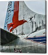 Plane Tail Wing Eastern Air Lines Canvas Print