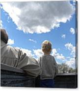Plane Viewing From The Truck Bed Canvas Print