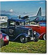 Planes And Cars Canvas Print