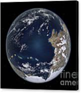 Planet Earth 600 Million Years Ago Canvas Print