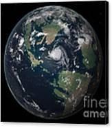 Planet Earth 90 Million Years Ago Canvas Print