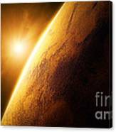 Planet Mars Close-up With Sunrise Canvas Print