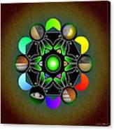 Planetary Metatron Zodiac Canvas Print