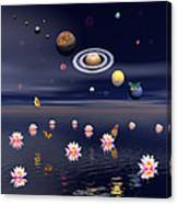 Planets Of The Solar System Surrounded Canvas Print