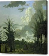 Plantation In Suriname, Dirk Valkenburg Canvas Print