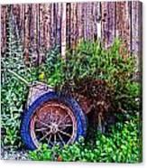 Planted Wheel Canvas Print