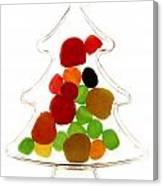 Plastic Christmas Tree Containing Sweet Canvas Print