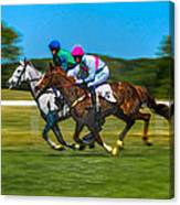 Plastic Wrapped Steeplechase Canvas Print