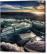 Plate Ice Brighton Beach Duluth Canvas Print