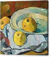 Plate Of Apples Canvas Print