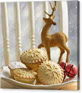 Plate Of Mince Pies Canvas Print