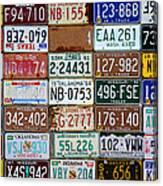 Plates Canvas Print
