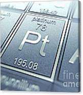 Platinum Chemical Element Canvas Print