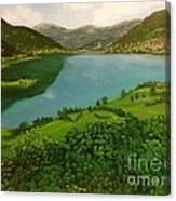 Plav Montenegro  Canvas Print