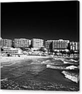Playa Cappellans And Salou Waterfront Properties On The Costa Dorada Catalonia Spain Canvas Print
