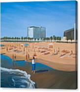 Playa De La Barceloneta Canvas Print