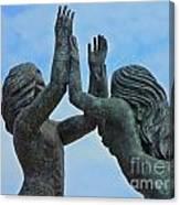Playa Del Carmen Statue Canvas Print