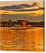 Playa Lake At Sunset Canvas Print