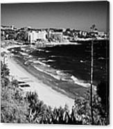 Playa Llarga And Cap De Salou Waterfront Properties On The Costa Dorada Catalonia Spain Canvas Print
