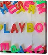 Playboy - Magnetic Letters Canvas Print