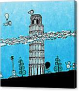 Playful Tower Of Pisa Canvas Print