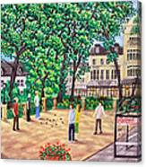 Playing Boules At Betty's Cafe- Harrogate Canvas Print