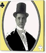 Playing Card Of Actor And Director Romain Fielding Unknown Date-2008 Canvas Print