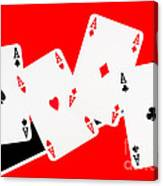 Playing Cards Aces Canvas Print