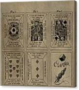 Playing Cards Patent Canvas Print