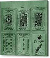 Playing Cards Patent Green Canvas Print