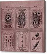 Playing Cards Patent Red Canvas Print