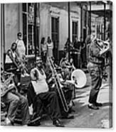 Playing Jazz On Royal Street Nola Canvas Print