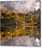 Playing Mirror. Loch Achray. Scotland Canvas Print