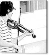 Playing Violin Canvas Print
