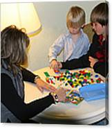 Playing With Legos Canvas Print