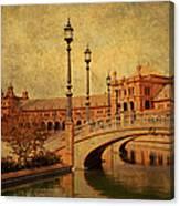 Plaza De Espana 9. Seville Canvas Print