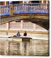 Plaza De Espana Rowboats Canvas Print