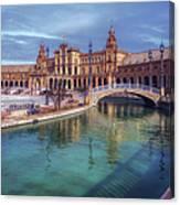 Plaza De Espana Seville II Canvas Print